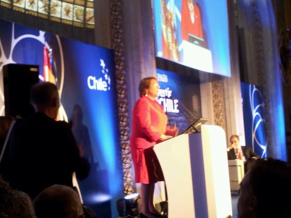 Michelle Bachelet españa inversiones Chile VITH Consultoría Antonio Pozuelo Casino de Madrid España